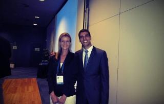 dr Tatjana Jelenic Kreckovic with dr Darsh Patel