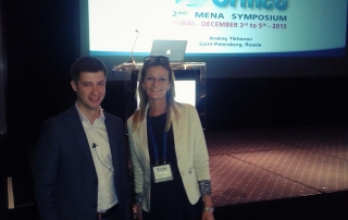 dr Tatjana Jelenic Kreckovic with dr Andrey Tikhonov
