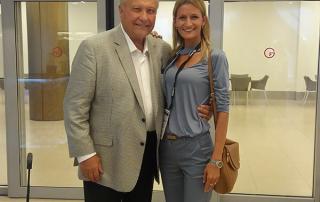 dr Tatjana Jelenic Kreckovic with dr Dwigth Damon